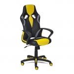 Кресло компьютерное TC жёлтый 132х61х47 см